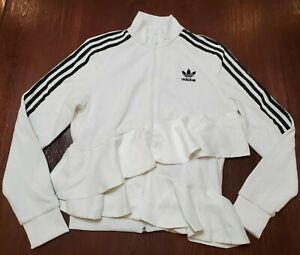 Adidas Originals Women's J KOO White Black Track Jacket FT9881 Women's Size XS