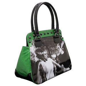 Rock Rebel Universal Monsters We Belong Dead Glitter Handbag UM-HB25-WBD-GRN