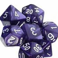 7X TRPG-Spiele Dungeons & Dragons D4-D20 Multi-seitig würfelt Lava Lila ,,, I0J0