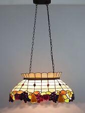 Tiffany Stil hochwertige Echtglas Deckenleuchte Hängeleuchte Centa 3 flammig
