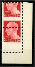 """ITALIA - Regno - 1929 - Serie """"Imperiale"""" - 20 cent. - Var. - Dent. fort. spost."""