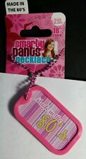 """MADE IN THE 80'S BABY PINK SMARTY PANTS DOG TAG 18"""" NECKLACE NEW"""
