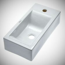Whitehaus Collection WH1-114R  Isabella Wall-Mounted Bathroom Sink in White