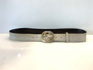 Men's Gucci Belt GG Monogram G Buckle 115 Cm