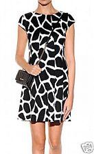 Michael Kors Luxus Kleid/Jerseykleid Giraffe Muster Schwarz/Weiss Gr.36/S Neu!