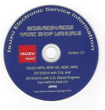 2013 2014 2015 Isuzu NPR HD NQR NRR Truck w/5.2L, 3.0L Diesel Repair Manual CD25