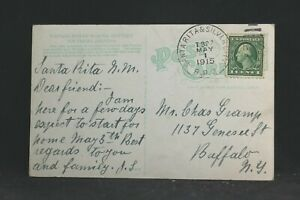 RPO: Santa Rita & Silver City 1915 Papage Indian View Postcard, Arizona Railroad