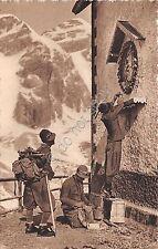 Cartolina - Finanzieri - divisa da montagna -  rifugio alpino
