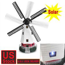 Windmill Lighthouse Spinner Solar powered Garden Lawn Led Lamp Lights Decor Gift