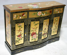 "oriental furniture Cupboards 48"" Chinese credenza gold lacquer cabinet,"
