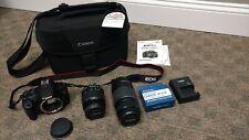 Canon EOS Rebel T5/EOS 1200D 18.0MP Digital SLR Camera-New-2 Lenses&Shoulder Bag