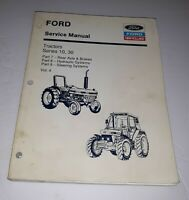 Ford New Holland Vol. 4 Service Manual Tractors Series 10, 30 Hydraulic System