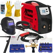 Telwin Technomig 215 dual en set 4 Wig MIG/MAG electrodos Inverter