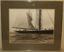 Original BEKEN of COWES 'Prince of Wales Boarding BRITTANIA' Sailing PHOTOGRAPH