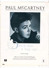PAUL McCARTNEY Once Upon... UK magazine ADVERT/Poster/clipping 11x8 inches