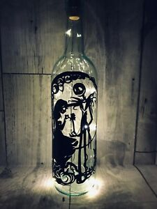Nightmare Before Christmas Light Up Wine Bottle Lamp Jack Gift Halloween