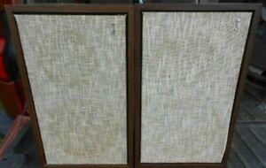 """Pair Vintage Jensen Model 2 Stereo Speakers-2 Way-8"""" Woofer-3"""" Tweeter"""