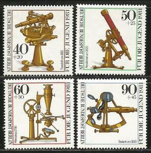 Germany Berlin 1981 MNH Optical Instruments Telescope Microscope Sextant