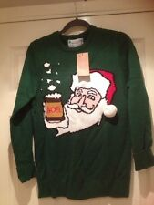 "Mens Primark Green Santa Christmas Jumper Size S 36-38"" RRP £12.00"