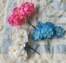 3 hübsche uralte Blumensträuße für Puppen , Osterdeko , Haarkranz , etc.