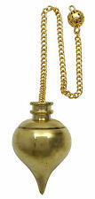 Brass Gold Tone Tear Drop Pendulum Dowsing Spiritual Energy Gift Reiki CD1456B