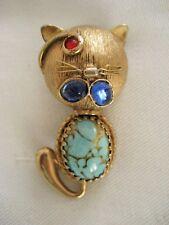 Vintage DeNicola Winking CAT Brooch ~ RARE