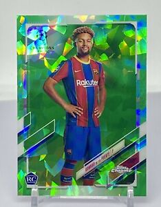 2020-21 Topps Chrome UEFA Sapphire KONRAD DE LA FUENTE SSP GREEN #/75 RC ROOKIE