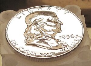 1956 Franklin Gem  Proof   > Blazing Mirrored Surfaces < #503 ~ 1