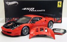 FERRARI 1/18 HOT WHEELS ELITE 458 ITALIA GT2 MODELLO LAUNCH VERSION 2011 MATTEL