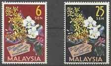 Timbres Flore Orchidées Malaisie 4/5 ** lot 27367
