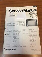 Panasonic TV Service manual. TX-2162 U5 chassis