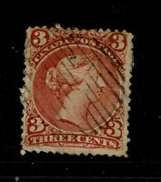 Canada SC# 25, Used, large page remnant - S3885