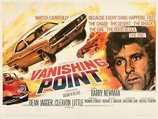 "VANISHING POINT 1971 repro UK quad film poster 30x40"" FREE P&P Barry Newman"