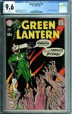 GREEN LANTERN 71 CGC 9.6 WP BLACK COVER FEW ON CENSUS DC SILVER AGE COMICS 1969