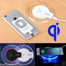 Clear Qi Wireless Fast Charger Charging Pad + receiver + cable for iPhone 5 6 6s