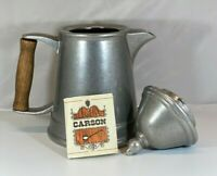 Vtg Carson Industries Statesmetal XIII Tea Pot Kettle Pitcher Metal Handcrafted