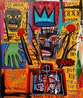 +Rare+Jean+Michel+Basquiat+Original++Vintage+Painting+%E2%80%9CBrooklyn%E2%80%9D