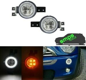 Led Halo Ring Turn Signal, Light DRL For Mini Cooper R53 Gen 1 (01-06) CLEAR