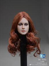 1/6 DSTOYS Female Women Red Long Hair Head Girl D-005 F 12'' Model Figure Body