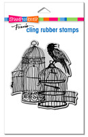 Stampendous Cling Uncaged Raven Rubber Stamp **FREE P&P**