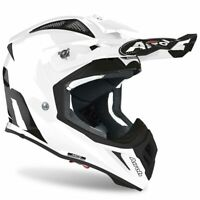 AIROH AVIATOR ACE WHITE GLOSS MOTOCROSS MX ENDURO MOTORCYCLE DIRT BIKE HELMET