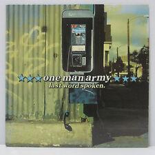 ONE MAN ARMY - LAST WORD SPOKEN LP 2000 ORIG ADELINE Green Day RANCID ALKALINE