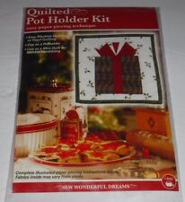 Dritz Quilted Pot Holder Kit Paper Piecing Kit Christmas Gift Present