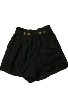 New Women's Size XS American Eagle Black Blend Shorts Elastic Waist X-small