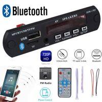 LCD Car Bluetooth Audio MP5 Decoder Board Module Player FM AUX USB with Remote