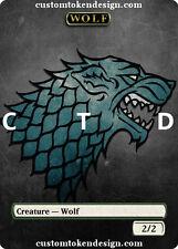 = Custom Full Art Skin Wolf FOIL Token =ctd= Garruk Arlinn d