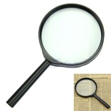5X 100mm Hand Held Reading Magnifier Magnifying Glass Lens Jewelry Zoomer Loupe