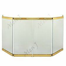 "NEW MARTIN INDUSTRIES 36"" BI-FOLD GLASS FIREPLACE DOOR POLISHED BRASS-GD36PB"
