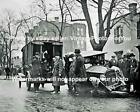 Old Antique Vintage Prohibition Bootlegger Car Wreck Police Paddy Wagon Photo