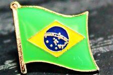 BRAZIL Brazilian Metal Flag Lapel Pin Badge *NEW*